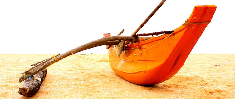 Fisherman's boat, Medilla Beach, Sri Lanka