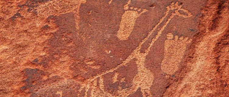 Ancient petroglyphs, Namibia