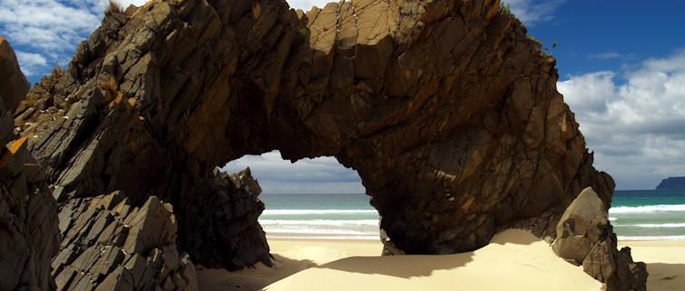 Arch on the beach, Bruny Island, Tasmania