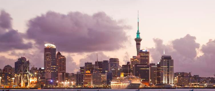 Auckland's Sky Tower pierces the cityscape, New Zealand