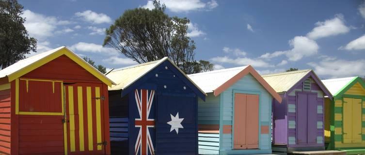 Beach huts, Adelaide, Australia