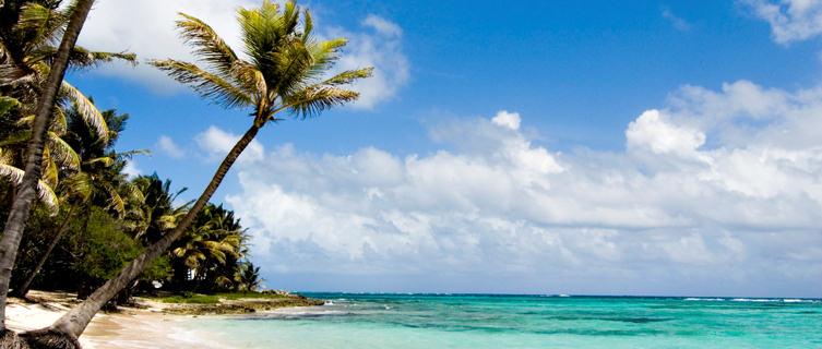 Beautiful beach on Marie Galante Island, Guadeloupe