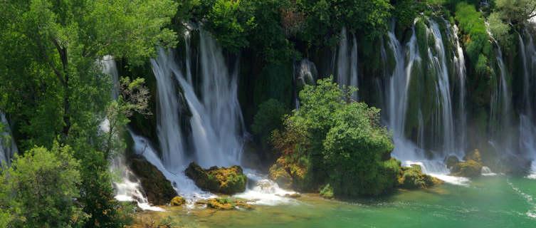 Beautiful Kravica waterfalls, Bosnia
