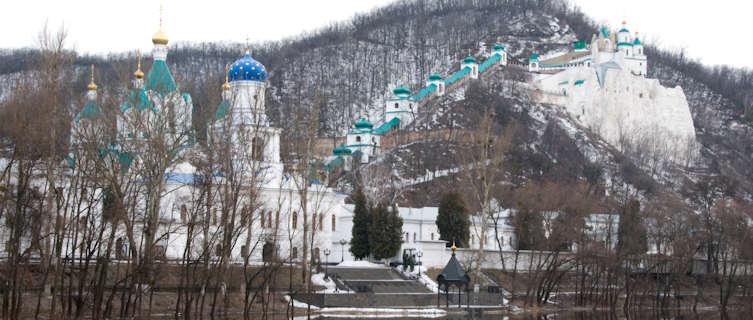 Beautiful remote monastery, Ukraine