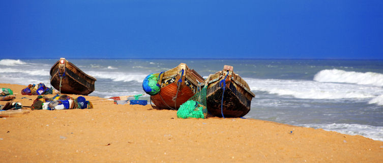 Benin fishing boats