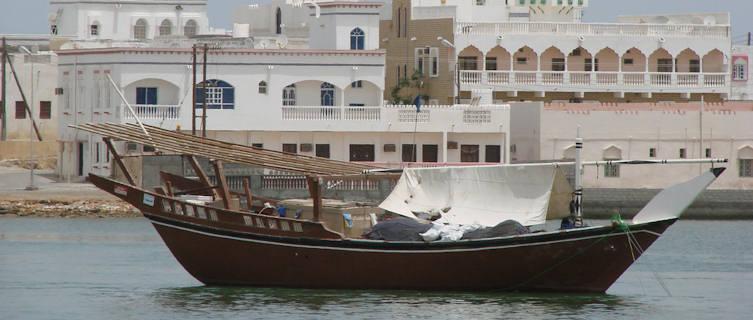 Boat in Oman capital Muscat