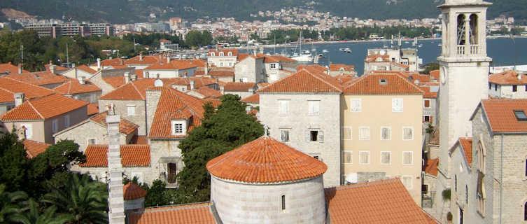 Budva's red rooftops