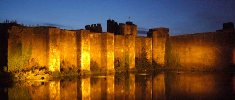 Caerphilly Castle near Cardiff