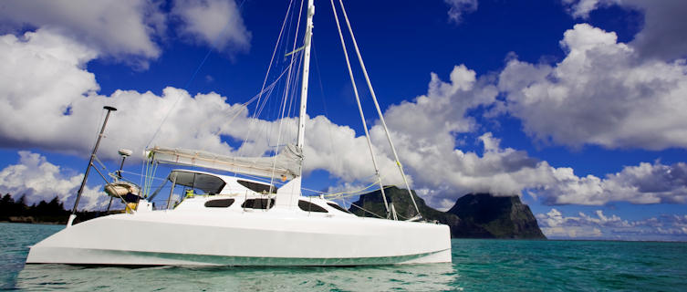 Cataman sailing to Lord Howe Island, New South Wales