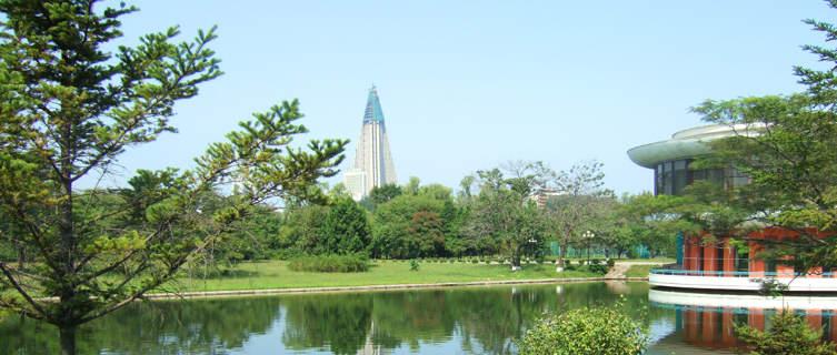 Central Park in Pyongyang, North Korea