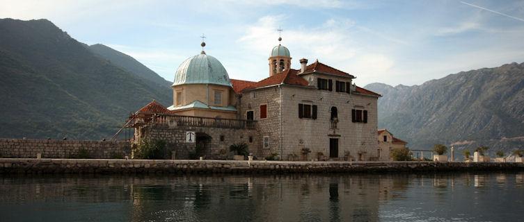 Church in Kotor Bay, Montenegro