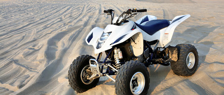Desert quadbike, Qatar