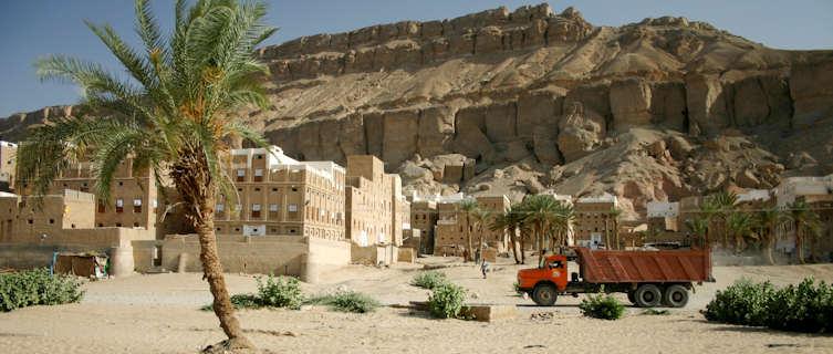 Desert village, Yemen
