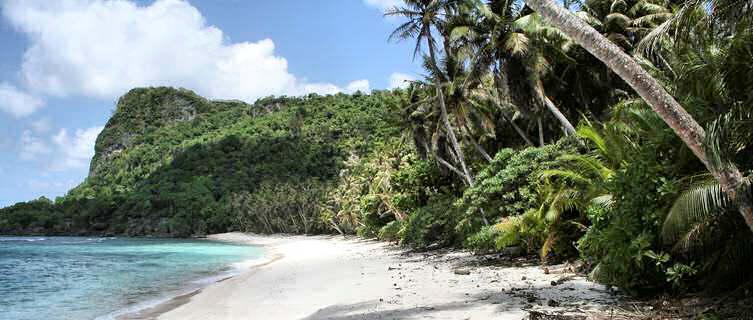Deserted beach, Micronesia
