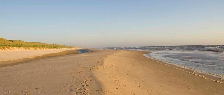 Deserted beach, Netherlands