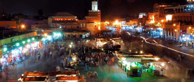Djemma El Fna Market at night