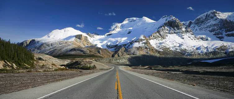 Drive along Alberta's Icefields Parkway
