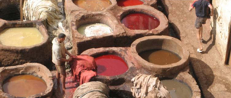 Dyeing industry in ancient Fez