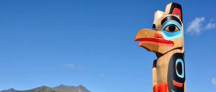 Eagle totem in the Yukon Territory