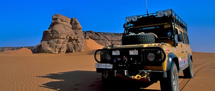 Enjoy a jeep safari into the desert in Libya