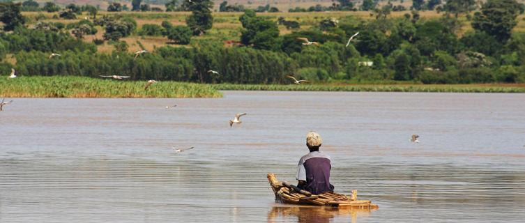 Fisherman on Lake Tana, Ethiopia