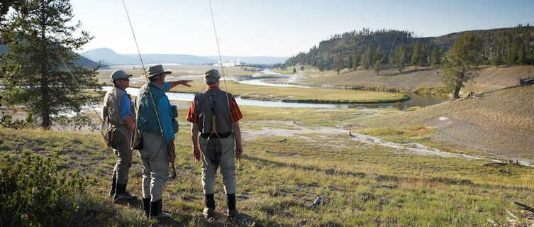 Fishing at Yellowstone, Wyoming