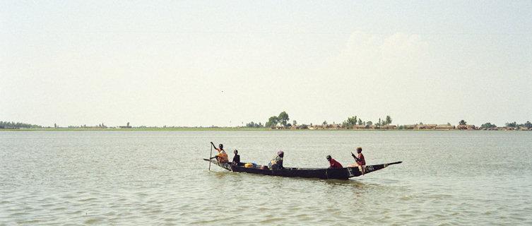 Fishing boat in Mali