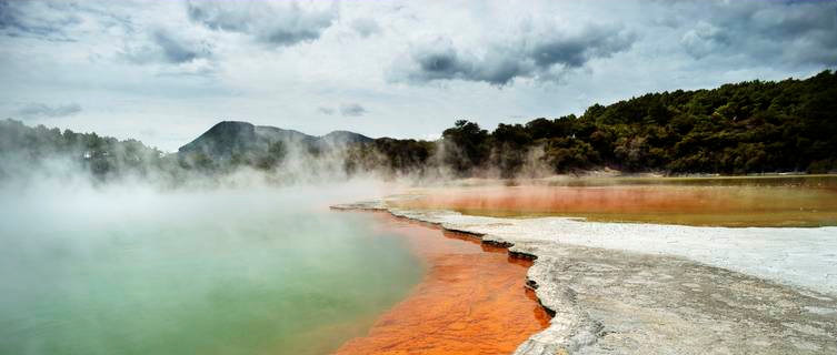 Geothermal lakes at Rotorua, New Zealand
