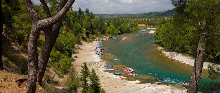 Go rafting on the emerald Koprulucay River, Turkey