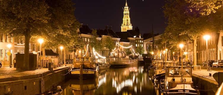 Groningen at night, Netherlands