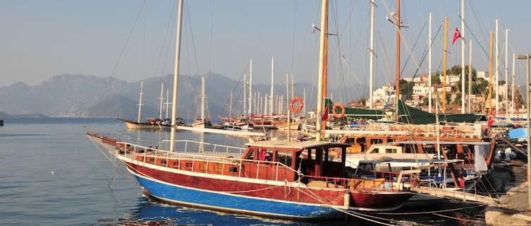 Gulet boat cruises are popular in Turkey