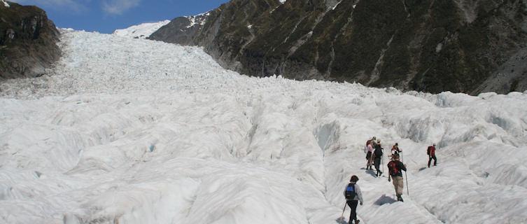 Heli-hiking on Fox Glacier, New Zealand