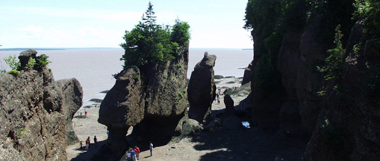 Hopewell Rocks at low tide, Bay of Fundy, New Brunswick