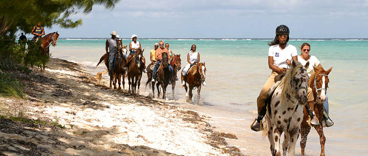 Horse riding on Barker's Beach, Grand Cayman