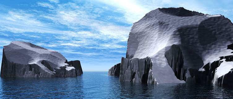 Iceburgs in the Arctic ocean