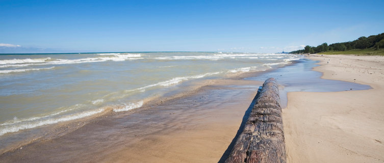 Lake Michigan beach, Indiana