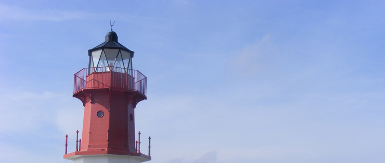 Lighthouses and FogHorn at Point of Ayre, North of the Isle of Man