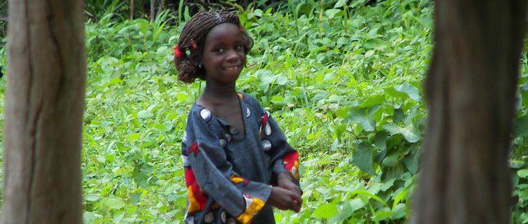 Little girl in Guinea-Bissau