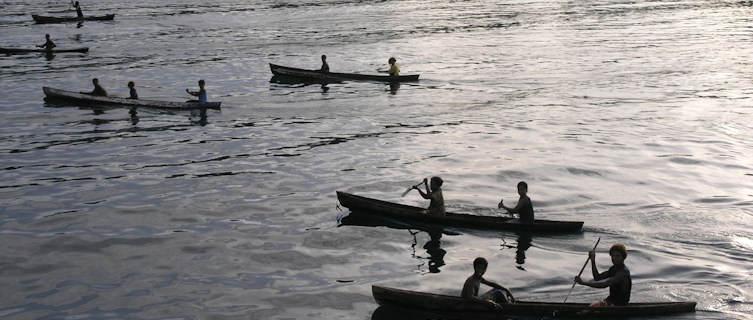 Local boats, Solomon Islands