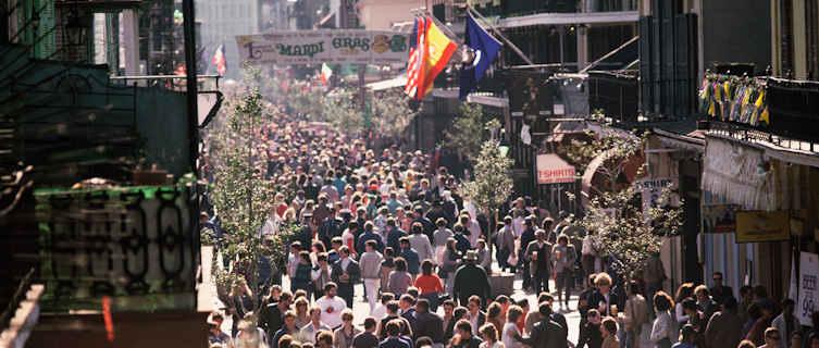 Mardi Gras crowds, New Orleans