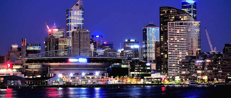 Melbourne at night, Victoria