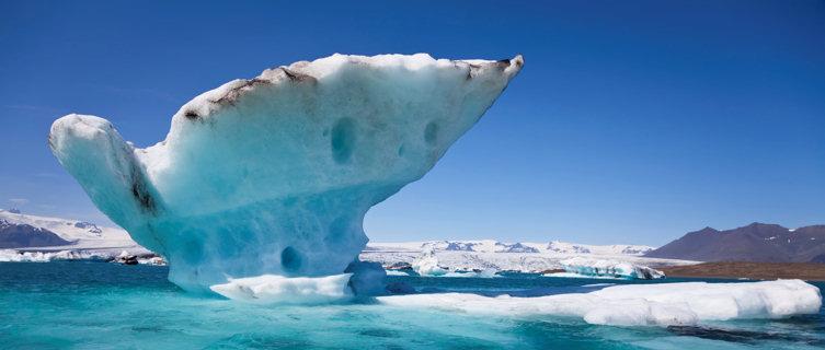 Melting iceberg on the Lagoon, Jokulsarlon, Iceland