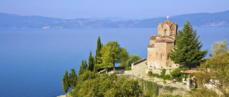 Monastery, Lake Ohrid, Macedonia