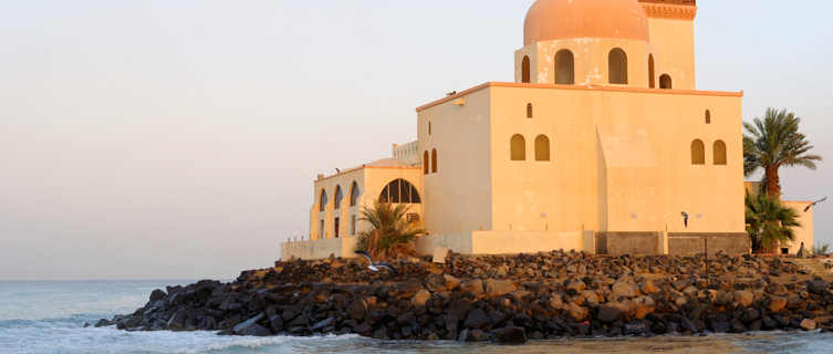 Mosque By Red Sea in Jeddah, Saudi Arabia