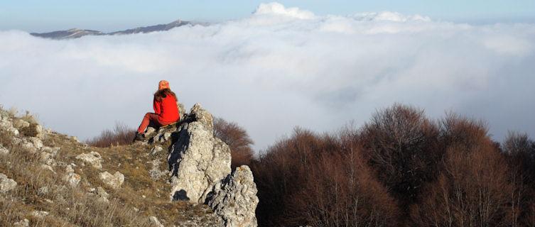 Mountain climbing in Ukraine's Carpathian Mountains