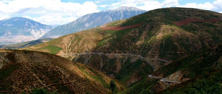 Mountains near Kukes, Albania