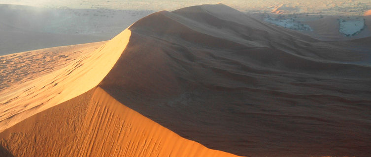 Namibia's fiery red giant sand dunes