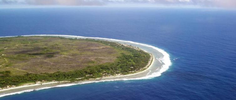 Nauru from the air