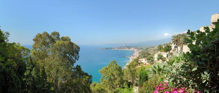 Naxos Bay from Taormina
