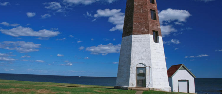 New England lighthouse, Rhode Island